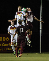 The Winthrop University Eagles played the College of Charleston Cougars at Eagles Field in Rock Hill, SC.  College of Charleston broke the 1-1 tie with a goal in the 88th minute to win 2-1.  Tam McGowan (2), Walker Johnson (14), Adam Purvis (13)