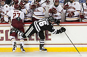 Graham McPhee (BC - 27), Anthony Florentino (PC - 16) - The Boston College Eagles defeated the visiting Providence College Friars 3-1 on Friday, October 28, 2016, at Kelley Rink in Conte Forum in Chestnut Hill, Massachusetts.The Boston College Eagles defeated the visiting Providence College Friars 3-1 on Friday, October 28, 2016, at Kelley Rink in Conte Forum in Chestnut Hill, Massachusetts.