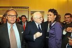 DIEGO DELLA VALLE  CON FRANCESCO COSSIGA E CATERINA BALIVO<br /> APERTURA STORE FAY A FONTANELLA BORGHESE ROMA 10/2008