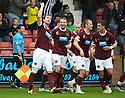 HEARTS' ANDY WEBSTER CELEBRATES AFTER HE SCORES HEARTS' FIRST