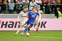 30th September 2021; Marshall Józef Piłsudski's Municipal Stadium, Warsaw, Poland: Europa League fooball, Legia Warsaw versus Leicester City; FILIP MLADENOVIC is beaten by th speed of TIMOTHY CASTAGNE