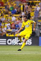 24 JULY 2010:  Adam Moffat of the Columbus Crew (22) during MLS soccer game between Houston Dynamo vs Columbus Crew at Crew Stadium in Columbus, Ohio on July 3, 2010. Columbus defeated the Dynamo 3-0.