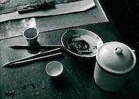 Malstudio in Schanghai, China 1980