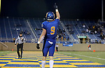BROOKINGS, SD - MAY 2: Jadon Janke #9 of the South Dakota State Jackrabbits celebrates a touchdown against the Southern Illinois Salukis at Dana J Dykhouse Stadium on May 2, 2021 in Brookings, South Dakota. (Photo by Dave Eggen/Inertia)