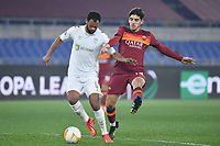 Rolando of SC Braga and Gonzalo Villar of AS Roma compete for the ball during the Europa League round of 32 2nd leg football match between AS Roma and Braga at stadio Olimpico in Rome (Italy), February, 25th, 2021. Photo Andrea Staccioli / Insidefoto