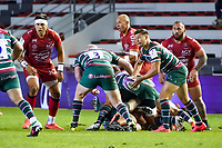26th September 2020; Toulon, France; European Challenge Cup Rugby, semi-final; RC Toulon versus Leicester Tigers;  Ben Youngs (Leicester) looks to pass outside
