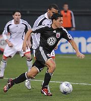 DC United midfielder Christian Gomez (10)  DC United tied The New England Revolution 1-1  at  RFK Stadium, Friday Arpil 17, 2009.
