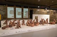 Suzhou, Jiangsu, China.  Figures Demonstrating Brick-making Process, Suzhou Museum of Imperial Kiln Brick.