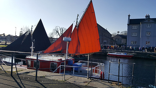 Three Galway Hookers gathered at Claddagh Church