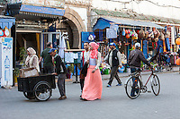 Essaouira, Morocco.   Street Scene, Avenue de l'Istiqlal.