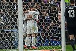 Real Madrid's Cristiano Ronaldo Garet Bale Lucas Vazquez  during the match of La Liga between Atletico de Madrid and Real Madrid at Vicente Calderon Stadium  in Madrid , Spain. November 19, 2016. (ALTERPHOTOS/Rodrigo Jimenez)
