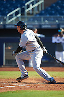 Scottsdale Scorpions Greg Bird (33), of the New York Yankees organization, during a game against the Peoria Javelinas on October 22, 2016 at Peoria Stadium in Peoria, Arizona.  Peoria defeated Scottsdale 3-2.  (Mike Janes/Four Seam Images)