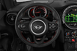 Car pictures of steering wheel view of a 2019 MINI Hardtop-2-Door John-Cooper-Works-Iconic 3 Door Hatchback Steering Wheel