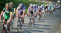 Dwars door Vlaanderen 2012.Jens Debusschere in the pack