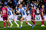 Guido Carrillo of CD Leganes celebrates goal during La Liga match between CD Leganes and Deportivo Alaves at Butarque Stadium in Leganes, Spain. February 29, 2020. (ALTERPHOTOS/A. Perez Meca)
