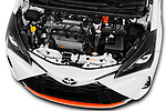 Car stock 2018 Toyota Yaris GRMN 3 Door Hatchback engine high angle detail view