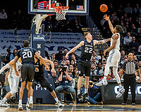 WASHINGTON, DC - JANUARY 28: Jamorko Pickett #1 of Georgetown shoots over Sean McDermott #22 of Butler during a game between Butler and Georgetown at Capital One Arena on January 28, 2020 in Washington, DC.