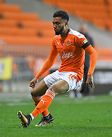 Blackpool's Grant Ward<br /> <br /> Photographer Dave Howarth/CameraSport<br /> <br /> EFL Trophy - Northern Section - Group G - Blackpool v Leeds United U21 - Wednesday 11th November 2020 - Bloomfield Road - Blackpool<br />  <br /> World Copyright © 2020 CameraSport. All rights reserved. 43 Linden Ave. Countesthorpe. Leicester. England. LE8 5PG - Tel: +44 (0) 116 277 4147 - admin@camerasport.com - www.camerasport.com
