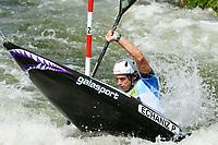 4th September 2021; Parc Olimpic del Segre, La Seu D'Urgell ICF Slalom World Cup, men's Kayak Final;   Pau Echaniz (ESP)