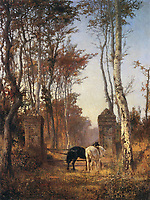 In Park. Veules in the Normandy<br /> Artist: Polenov, Vasili Dmitrievich(1844-1927)<br /> Museum: State Tretyakov Gallery, Moscow<br /> Method: Oil on canvas<br /> Created:1874<br /> School: Russia<br /> Trend in art: Russian Painting of 19th cen.