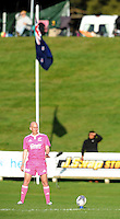 Match referee Adam Morrison in the Jock Hobbs Memorial Under-19 Provincial rugby union tournament Graham Mourie Trophy final between Waikato and Canterbury at Owen Delaney Park, Taupo, New Zealand on Saturday, 03 October 2015. Photo: Kerry Marshall / lintottphoto.co.nz
