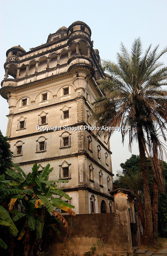"""A European """"tower"""" in Jiu Jiang Li town near Kaiping city in Guangdong Province, China. The European style """"towers"""" were built by by overseas Chinese returning with architectural ideas from America and Europe. ."""