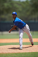 GCL Blue Jays relief pitcher Jose Nova (37) during a game against the GCL Braves on August 5, 2016 at ESPN Wide World of Sports in Orlando, Florida.  GCL Braves defeated the GCL Blue Jays 9-0.  (Mike Janes/Four Seam Images)