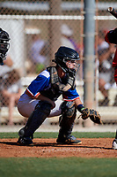 Parker Haskin during the WWBA World Championship at the Roger Dean Complex on October 19, 2018 in Jupiter, Florida.  Parker Haskin is a catcher from Palm Beach Gardens, Florida who attends the Benjamin School and is committed to Tulane.  (Mike Janes/Four Seam Images)