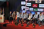 The Spanish national handball team, Los Hispanos, led by Jordi Ribera and a bronze medalist at the 2021 Egypt World Championship, received at the Spanish Olympic Committee by its president, Alejandro Blanco and the president of the Royal Spanish Handball Federation Francisco V. Blazquez. February 1, 2021. (ALTERPHOTOS/Ricardo Blanco)