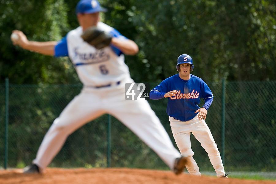 BASEBALL - EUROPEAN UNDER -21 CHAMPIONSHIP - PAMPELUNE (ESP) - 03 TO 07/09/2008 - PHOTO : CHRISTOPHE ELISE .SLOVAKIA VS FRANCE (WINNER 5-4) - PETER MUDRY (SLOVAKIA)