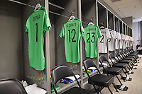 Glendale, AZ - Saturday June 25, 2016: Colombia locker room prior to a Copa America Centenario third place match match between United States (USA) and Colombia (COL) at University of Phoenix Stadium.