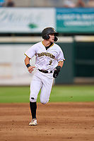 Bradenton Marauders Jase Bowen (2) running the bases during Game One of the Low-A Southeast Championship Series against the Tampa Tarpons on September 21, 2021 at LECOM Park in Bradenton, Florida.  (Mike Janes/Four Seam Images)