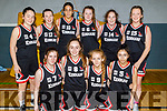 The Kenmare U16 Basketball team who played Caherciveen in the KABB Basketball U16 Cup final in the Sports Complex, Tralee on Sunday. Kneeling l to r: Grace O'Brien, Amy Harrington, Katie Cronin and Molly Bjamvra.<br /> Standing l to r: Jodie O'Shea, Clionadh Daly, Tania Salvado-McCormack, Sarah Taylor, Chloe Cremin and Rachel O'Sullivan.