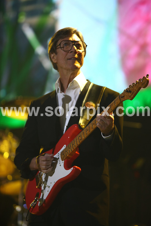 **ALL ROUND PICTURES FROM SOLARPIX.COM**.**WORLDWIDE SYNDICATION RIGHTS**.Cliff Richard performs live at the National Indoor Arena, Birmingham, UK. 1 October 2009..This pic: Hank Marvin..JOB REF: 10050 NYA     DATE: 01_10_2009.**MUST CREDIT SOLARPIX.COM OR DOUBLE FEE WILL BE CHARGED**.**MUST NOTIFY SOLARPIX OF ONLINE USAGE**.**CALL US ON: +34 952 811 768 or LOW RATE FROM UK 0844 617 7637**