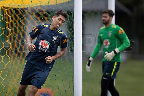 10th November 2020; Granja Comary, Teresopolis, Rio de Janeiro, Brazil; Qatar 2022 qualifiers; Richarlison of Brazil during training session in Granja Comary