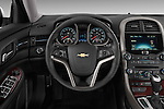 Steering wheel view of a 2013 Chevrolet Malibu ECO 1SA