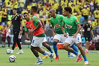 BARRANQUILLA – COLOMBIA, 10-10-2021:  Marquinhos de Brasil durante partido entre los seleccionados de Colombia (COL) y Brasil (BRA), de la fecha 12 por la clasificatoria a la Copa Mundo FIFA Catar 2022, jugado en el estadio Metropolitano Roberto Melendez en Barranquilla. / Marquinhos of Brazil during match between the teams of Colombia (COL) and Brasil(BRA), of the 12th date for the FIFA World Cup Qatar 2022 Qualifier, played at Metropolitan stadium Roberto Melendez in Barranquilla. Photo: VizzorImage / Jairo Cassiani / Contribuidor