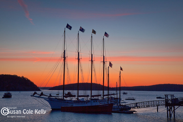 Sunrise over Frenchmans Bay in Bar Harbor, ME