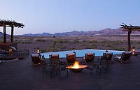 Namibia Africa desert remote Okahirongo Elephant Lodge exclusive expensive safari resort at lodge with scenic view