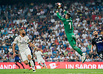 Goalkeeper Ivan Cuellar Sacristan of CD Leganes saves the ball during the La Liga 2018-19 match between Real Madrid and CD Leganes at Estadio Santiago Bernabeu on September 01 2018 in Madrid, Spain. Photo by Diego Souto / Power Sport Images