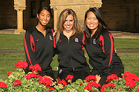 1 October 2007: Gayle Lee, Taylor Durand, and Debbie Chen during picture day in Stanford, CA.