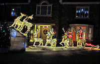 Houses in Bedford, UK, illuminated with a variety of displays of festive decorations and  colourful christmas lights. Bedford, UK - December 24th 2020<br /> <br /> Photo by Keith Mayhew