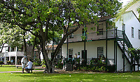 The historic Baldwin House located on Front street in  Lahaina is the town's oldest standing structure. Built in 1834 for missionary Dwight Baldwin and his family.