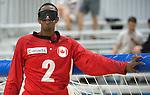 Aron Ghebreyohannes, Toronto 2015 - Goalball.<br /> Canada's men's Goalball team plays against USA in the semi finals // L'équipe masculin de goalball du Canada joue contre les États-Unis en demi-finale. 14/08/2015.