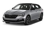 2020 Skoda Scala Monte-Carlo 5 Door Hatchback Angular Front automotive stock photos of front three quarter view