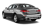 Car pictures of rear three quarter view of 2018 Infiniti Q70 Hybrid 4 Door Sedan Angular Rear