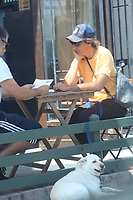 Lukas Haas Has Lunch With A business Partner