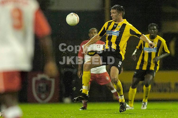 veendam - fc dordrecht jupiler league seizoen 2007-2008 17-09-2007  boersma brengt de bal onder controle