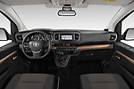 Stock photo of straight dashboard view of 2018 Toyota Proace-Verso MPV 5 Door Minivan Dashboard