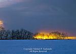 Winter Sunset, Pocono Mountains, Pennsylvania